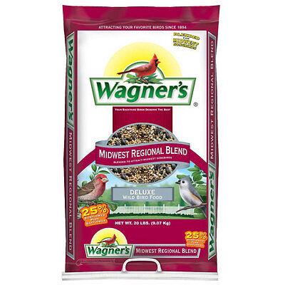 20 lb. Wagner's Midwest Regional Blend Wild Bird Seed Backyard Feeder Food Bag