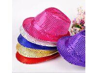 Wholesale-Resellers-24 X Flashing Light Up Led Unisex Fancy Dress Dance Party Hat