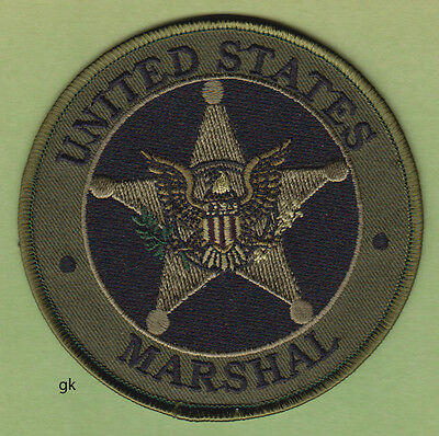 UNITED STATES MARSHAL POLICE SHOULDER PATCH (Subdued -Green) 4""