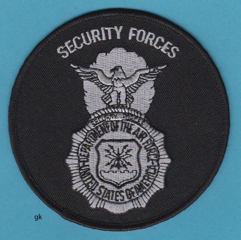 US AIR FORCE SECURITY FORCES POLICE SHOULDER PATCH (round)