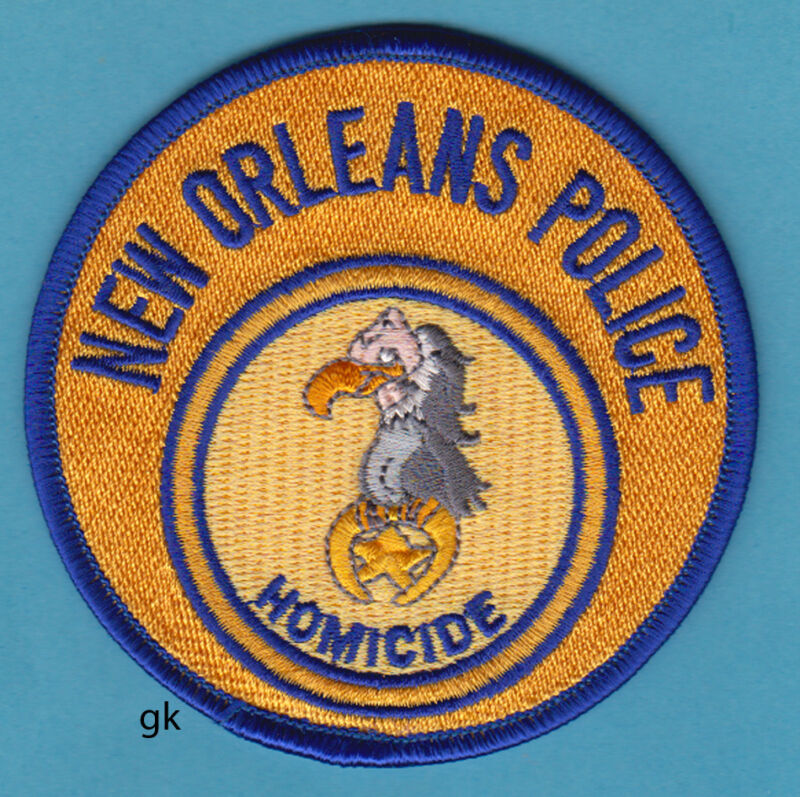 NEW ORLEANS LOUISIANA HOMICIDE POLICE SHOULDER PATCH