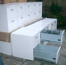 WHITE 2 drawer metal FILING CABINET / bedside table with key Balaclava Port Phillip Preview