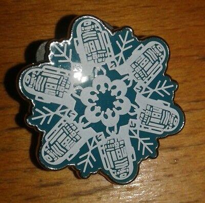 NEW Disney World Pin Star Wars Christmas BLUE *Snowflake* Booster Set R2-D2 Rare