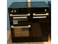 c750 black belling 90cm ceramic induction hob double electric ovens range cooker new with warranty
