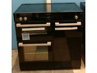 h750 black belling 90cm ceramic induction hob double electric ovens range cooker new with warranty