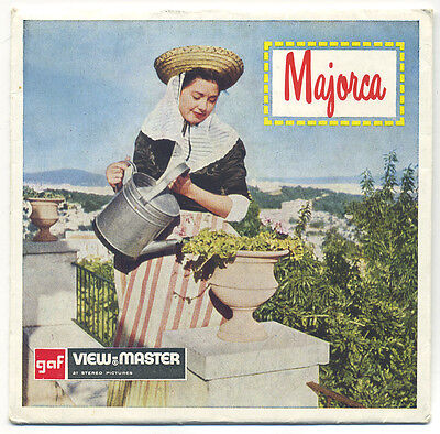MAJORCA the Balearic Islands Spain Belgium-made GAF ViewMaster Packet C-241-E