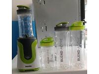 Green & white breville blend active family electric blender 4 sport bottles graded with warranty