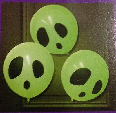6 Light Up Balloons Glow In The Dark  W/ Glow Sticks Halloween Party - Glow Stick Balloons Halloween