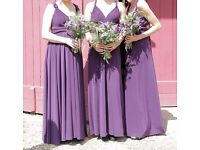 Purple In One Clothing Multiway, Full Length Dress Size M RRP£129