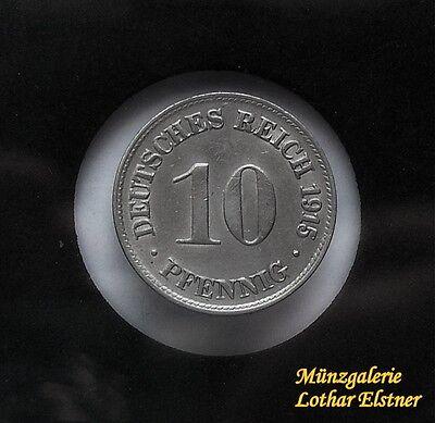 10 Pfennig  1915  D  Jg 13    prächtiges Stück    KR 7