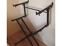KEYBOARD STAND FOR 2 KEYBOARDS