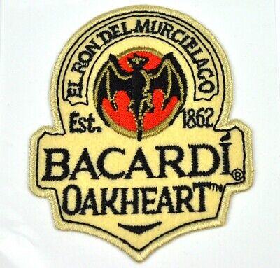 Bacardi Rum USA Oakheart Fledermaus Bügelflicken Aufnäher Patch Stoff Aufkleber