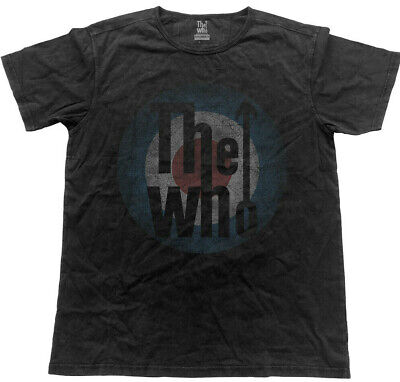 Official The Who T Shirt Vintage Target Logo Black Classic Rock Quadrophenia NEW