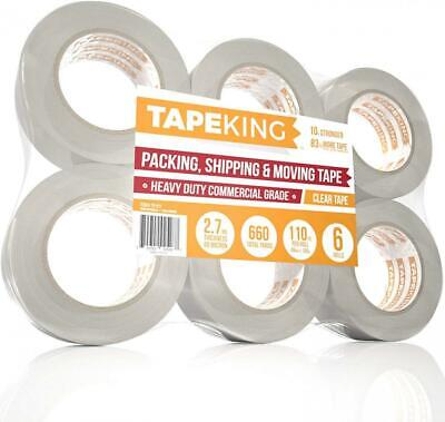 Tape King Clear Packing - XL 110 Yards Per 6 Rolls (110 yd./ 2