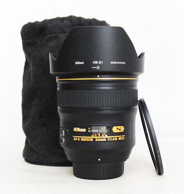 # NIKON AF-S NIKKOR 24 mm f/1.4G ED Wide-angle Prime Lens S/N 220502