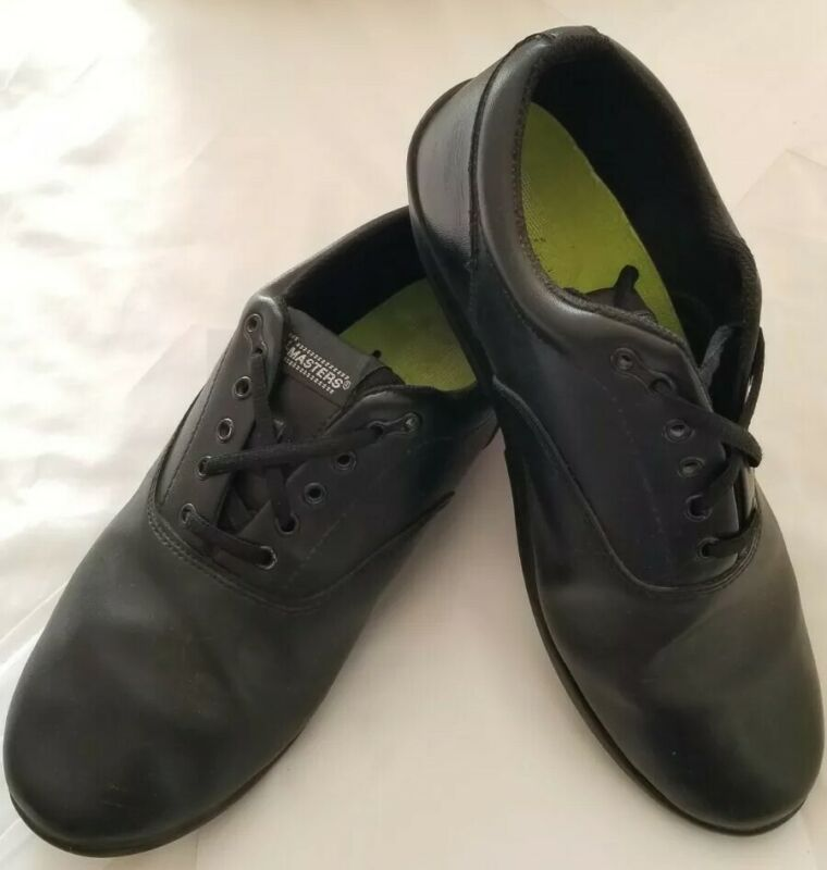 DrillMaster Marching Band Shoes Black Lace Up Rolled Heels Mens-10 & Womens-12