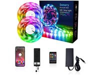 NEW LED Strip Lights kit 10m Denary LED Lights - Color Changing Strip Sync Music RGB 5050