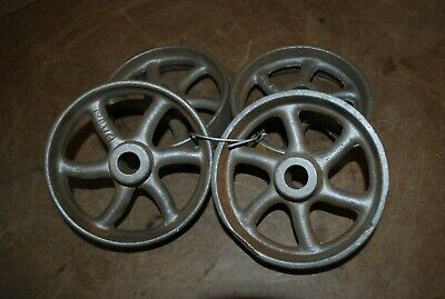 4 - 5 Dia.cast Iron Whees For Model Engine Carts Gas Engine Motor