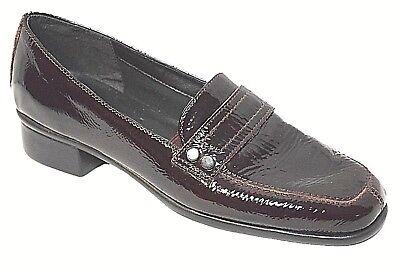 FLEXX Leather Shoes sz 6.5 / 37 Aubergine Court Shoe low heels comfy flexi BNIB