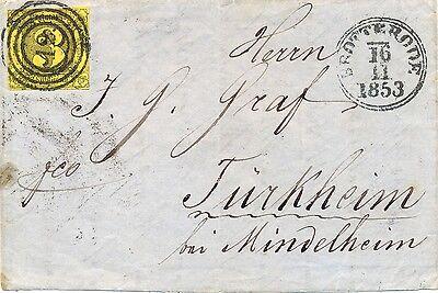 "Thurn u Taxis, Brief aus Brotterode ""12"", Michel Nr. 6"