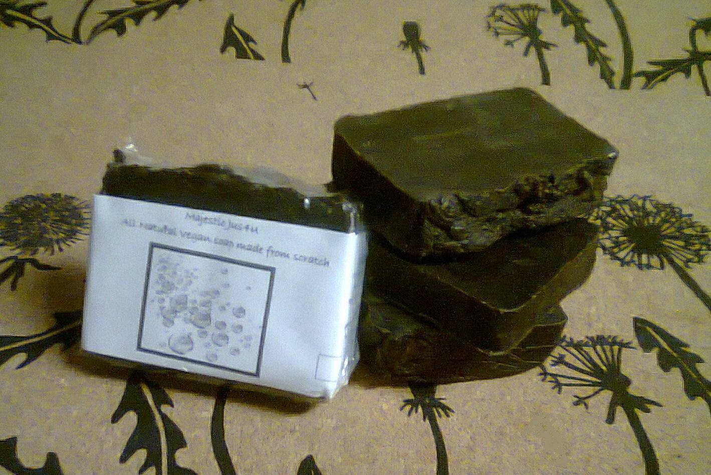 White Willow Bark Pine Tar Tea Tree Handmade Ayurveda Vegan Bar Soap