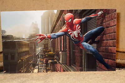 "Marvel Comics ""Spiderman"" Color Figure Tabletop Display Standee 10.5"" Long"