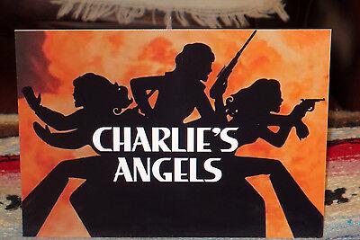 "Charlies Angels 1970's TV Series Poster Tabletop Display Standee 10 1/2"" Long"