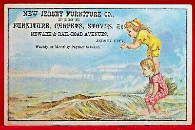 Victorian Trade Card Jersey City NJ Advertising Furniture Company Circa - Jersey City Party City