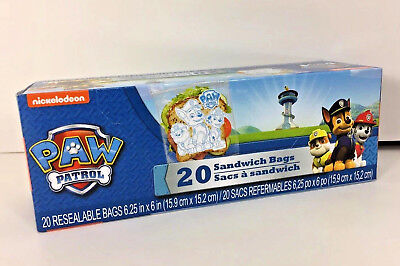Clear Plastic Bags For Favors (NEW Paw Patrol Sandwich Bags 20-Pc for Lunch Box Snacks Classroom Party Favors)