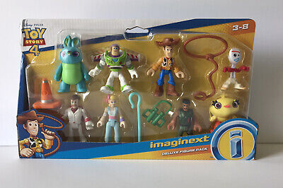 Imaginext Deluxe Set Disney Toy Story 4 Duke Forky BoPeep Buzz Woody Ducky Bunny