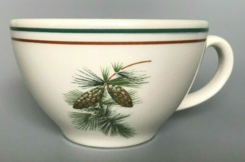 Pinecone Club Lake Placid Classic Restaurant Ware Coffee Cup Mint 2 Available