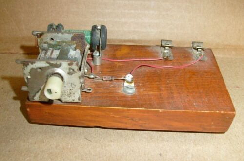 Vintage Crystal Radio Project part  kit w/ glass diode and air tuner