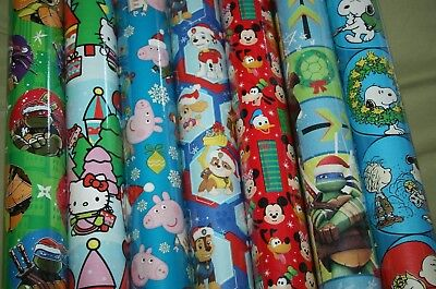 Peppa Pig Wrapping Paper (Christmas Wrapping Paper Gift Wrap Roll Paw Patrol Peppa Pig Mickey TMNT)