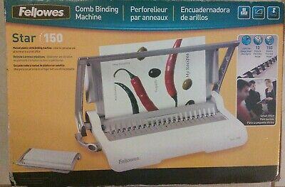 Fellowes Star 150 Manual Plastic Comb Binding Machine Spiral Bound Presentations