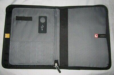 Oracle Black Portfolio Zipper Organizer Case Pocket Planner Pad Card Holder New
