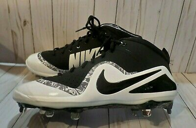 the best attitude 3a3cf af6c7 NEW NIKE Force Zoom Trout 4 Men s Black White Baseball Cleats Size 12
