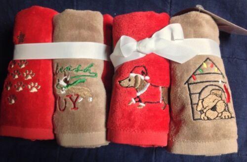 DOG Designs - Winter Wonderland Set of 4 Christmas/Holiday - Finger Tip Towels