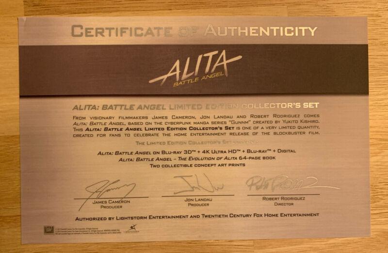 Alita Battle Angel Autopen Signed Collector's Set COA Only~James Cameron & 2 MOR