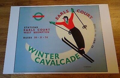 Vintage Art Deco-Style Sporting Poster / Print - Winter Cavalcade