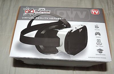New in Box--As Seen on TV--DVV Dynamic Virtual Viewer Virtual Reality Headset