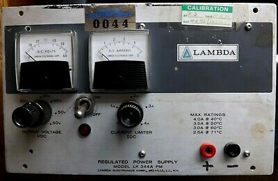 Working Lambda Regulated Power Supply Model Lk 344a Fm