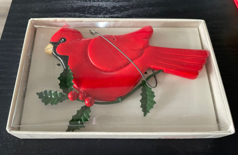 Department 56 Boughs Of Holly Porcelain Cardinal Ornament #4429-6