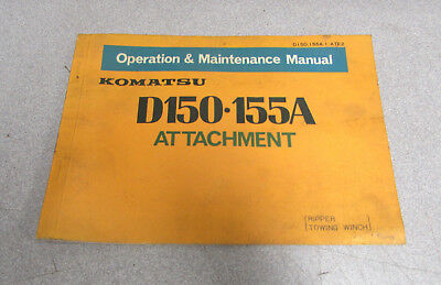 Komatsu D150 155a Attachment Operation Maintenance Manual 1977