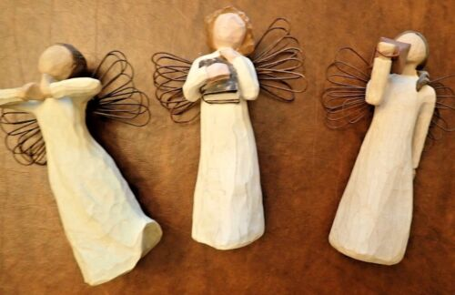 """Willow Tree Angels - Hope, Happiness and Learning. 5"""" tall EC"""