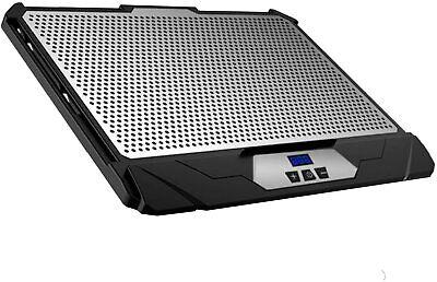 KLIM Swift Laptop Cooler Pad Stand for PC/Mac - Black w/Aluminum Plate (NEW)