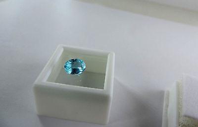 1.20ct Paraiba Blue Apatite from Mesa Grand, California. High grade cut by me :)