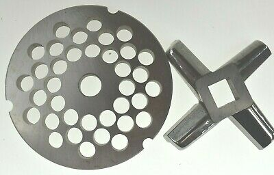 32 X 38 Stainless Meat Grinder Plate Heavy Duty Knife For Hobart Biro