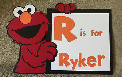 Personalized Sesame Street Elmo sign. You pick name. Great for Birthdays  - Personalized Birthday Signs