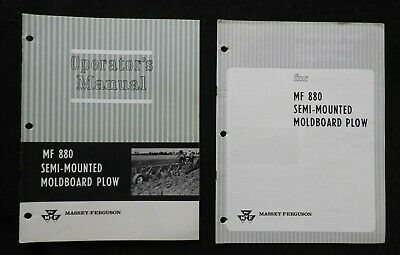 1969 Massey-ferguson Mf 880 Semi-mounted Moldboard Plow Operators Manual