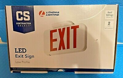 Lithonia Lighting Led Exit Sign Low Profile Dual Voltage 120 Or 277